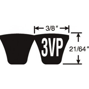 3/3VP600 Predator PowerBand Belts