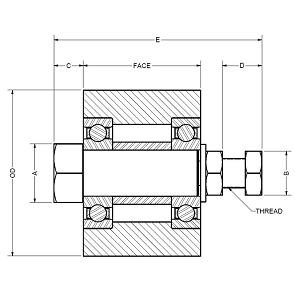 4.25X1.25-IDL-FLAT Flat Idler Pulley